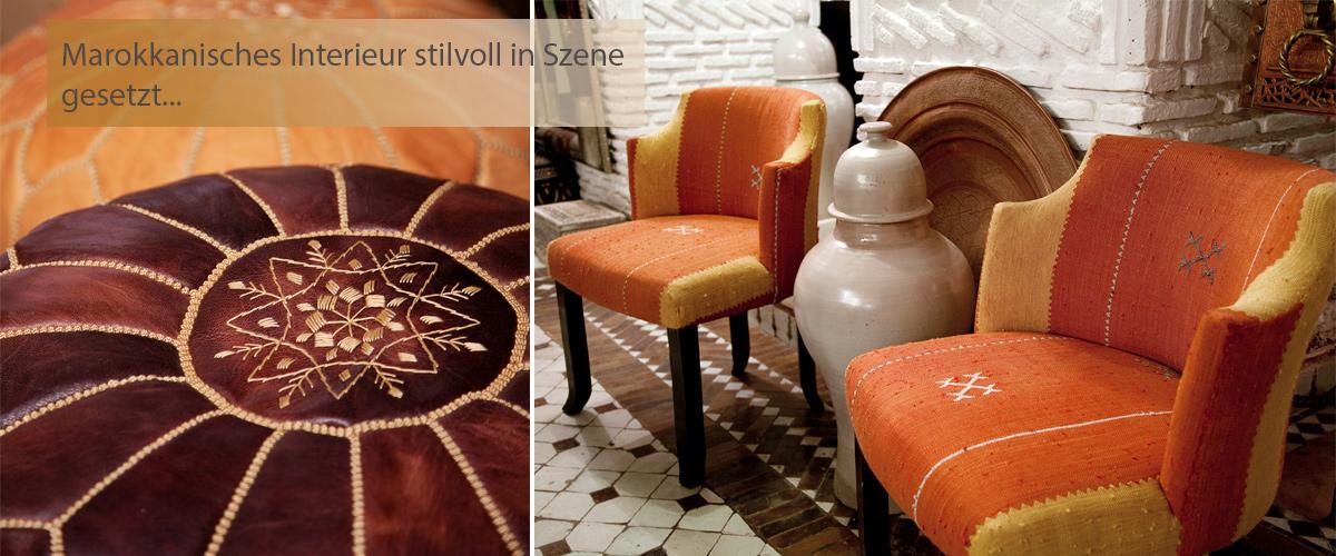 Orientalische Sitzkissen