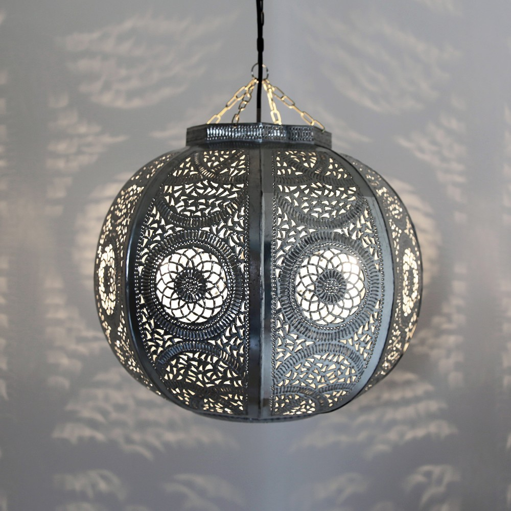 orientalische deckenleuchte kitora silber albazar. Black Bedroom Furniture Sets. Home Design Ideas