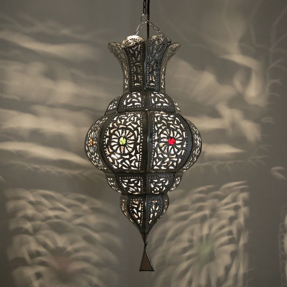 orientalische lampen yamina silber albazar. Black Bedroom Furniture Sets. Home Design Ideas