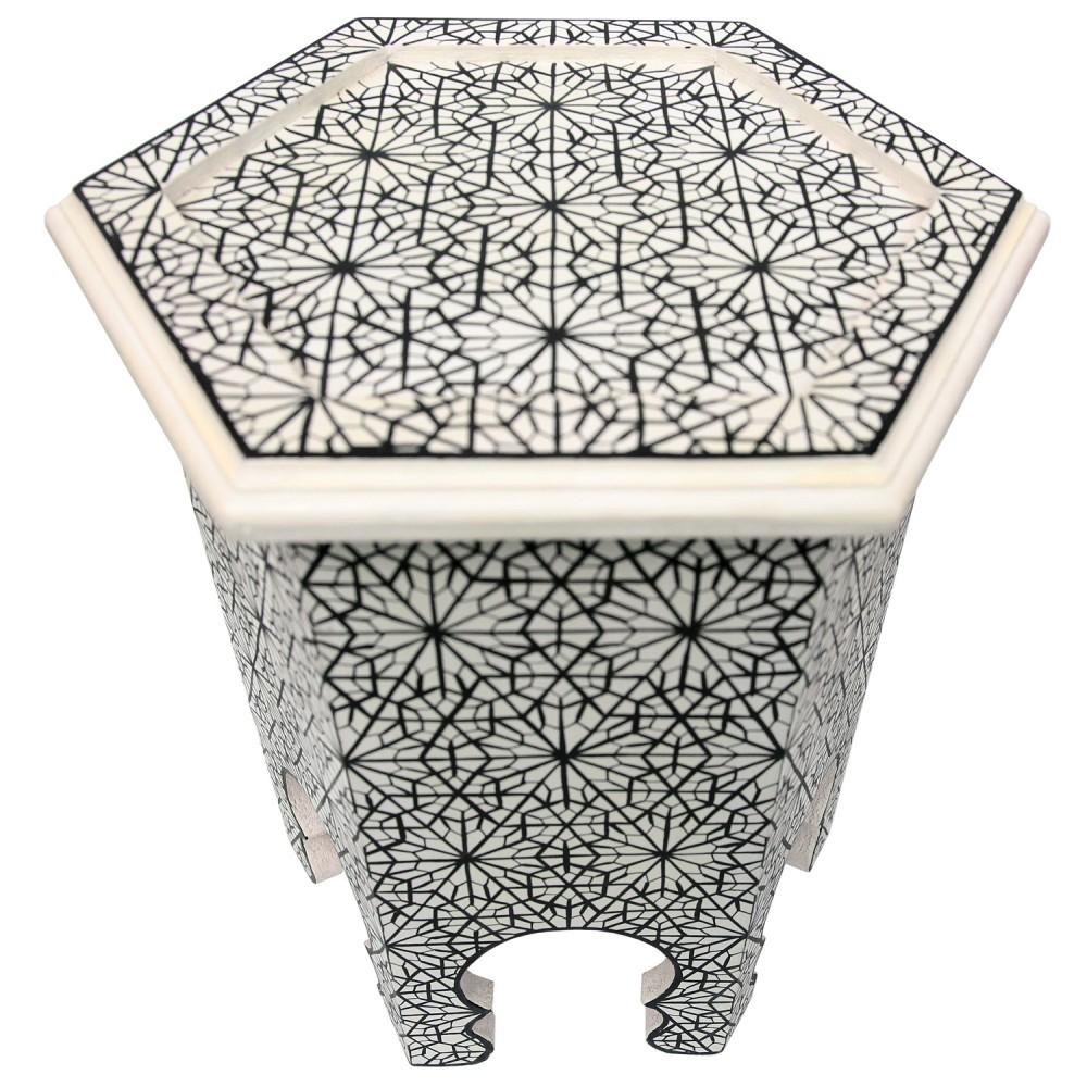 orientalischer teetisch aus holz ankbuta handbemalen albazar
