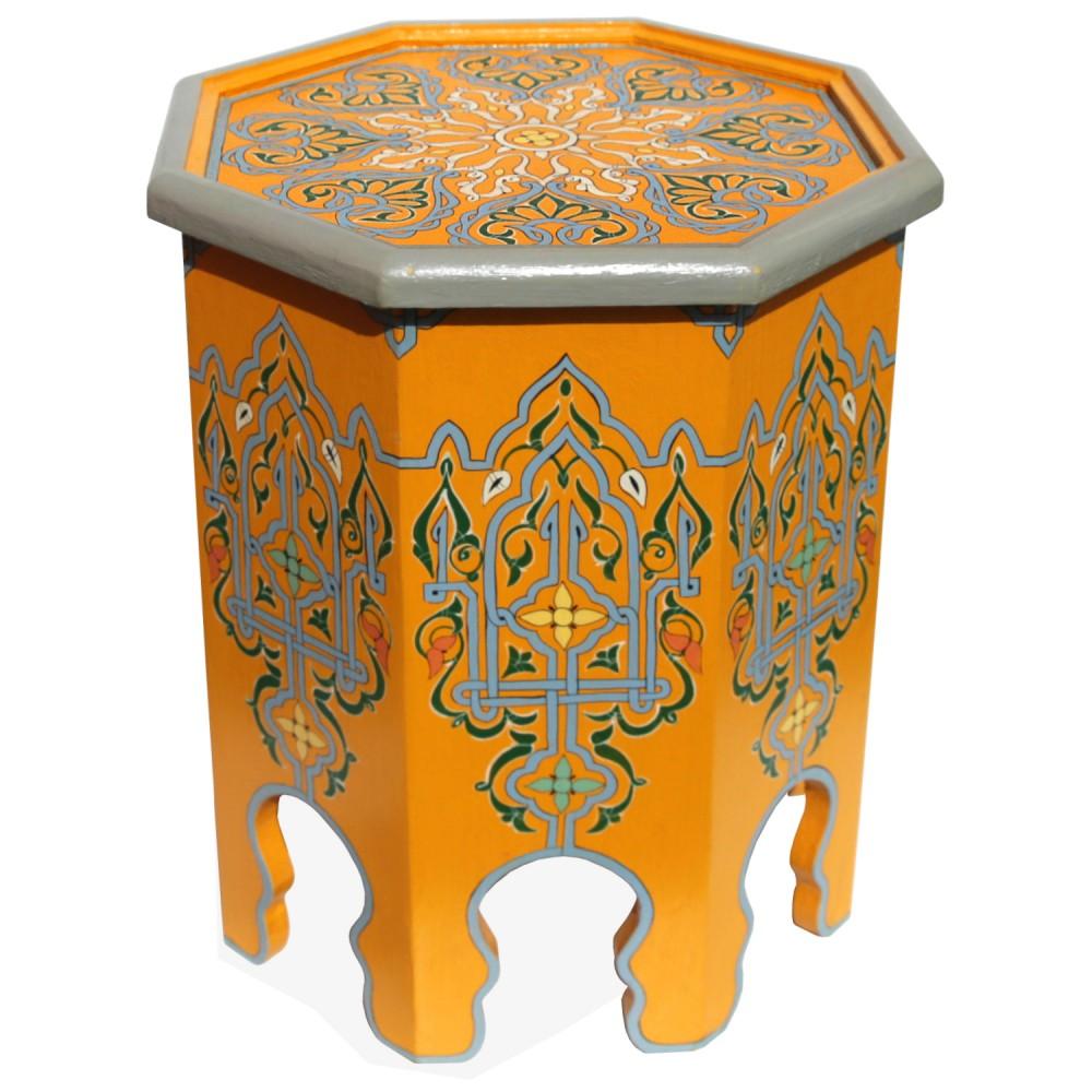 Orientalischer Teetisch Aus Holz Safir Handbemalen