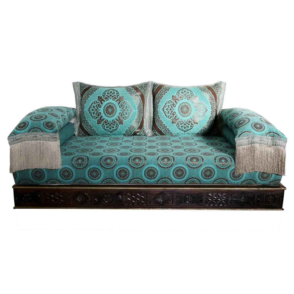 Orientalische Marokkanische Couch aus Massivholz \