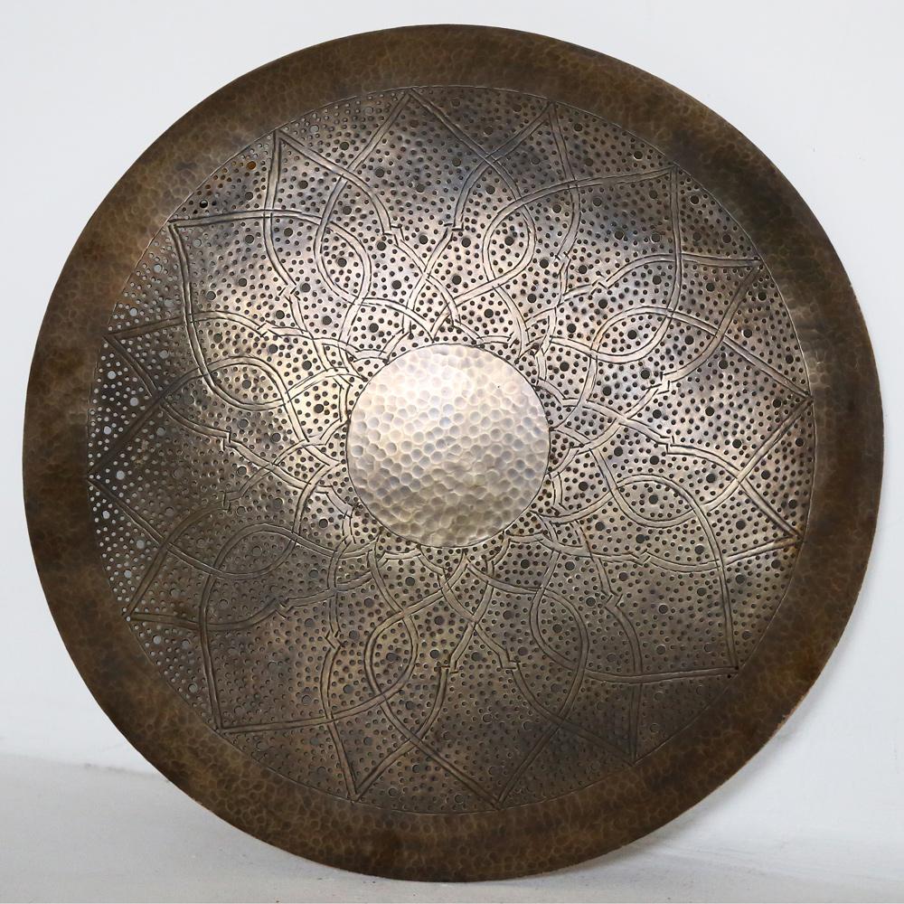 Orientalische Marokkanische Wandlampe Dora Zwak M Aus Messing D50cm Albazar