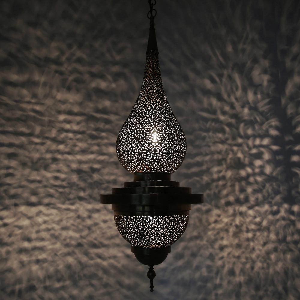 marokkanische orientalische h ngeleuchte damaa aus messing albazar. Black Bedroom Furniture Sets. Home Design Ideas
