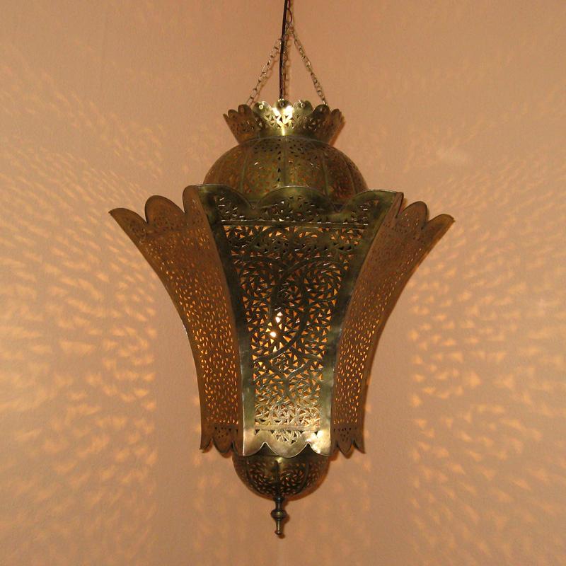 marokkanische lampe aus messing warda xl albazar On marokkanische lampen messing