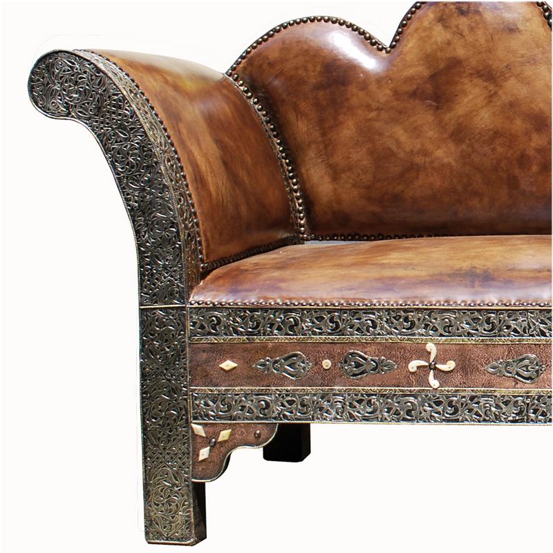 orientalische sitzbank argana echtleder albazar. Black Bedroom Furniture Sets. Home Design Ideas