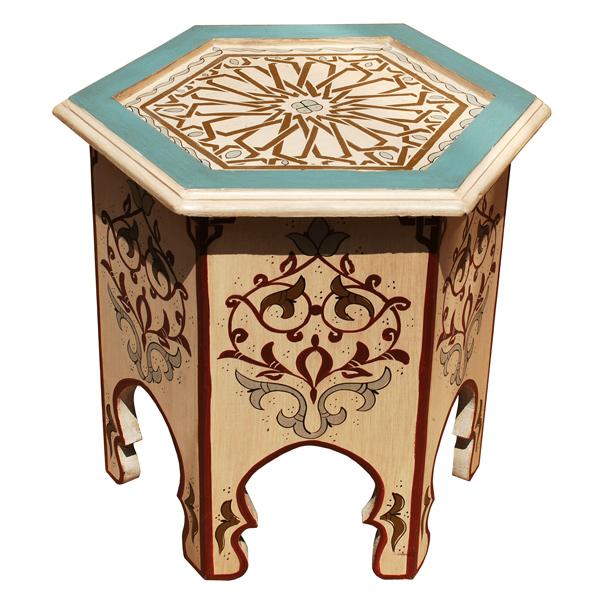 Orientalischer Beistelltisch Aus Holz Crema Albazar