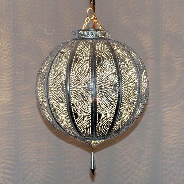 Orientalische Deckenleuchte KORA_KAZDIR_K_2 Silber - Albazar
