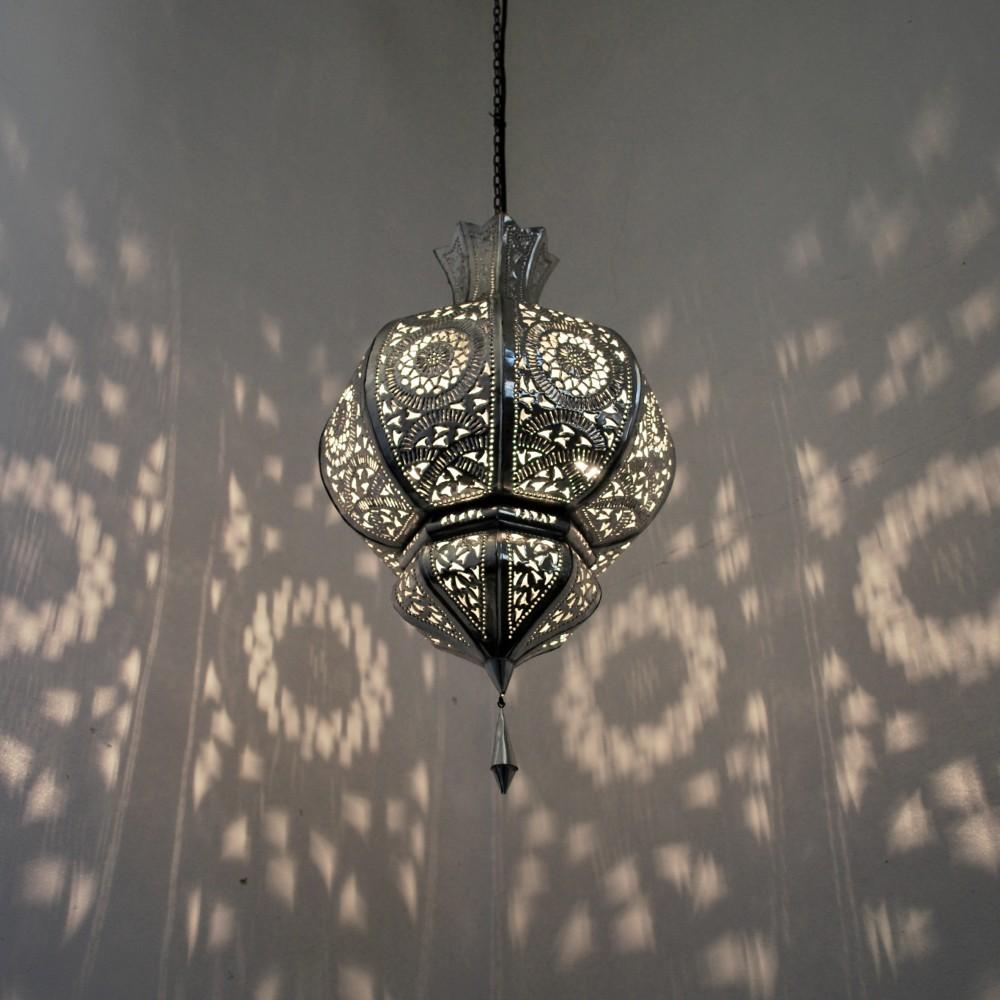 orientalische lampen yamina silber albazar. Black Bedroom Furniture Sets. Home Design Ideas