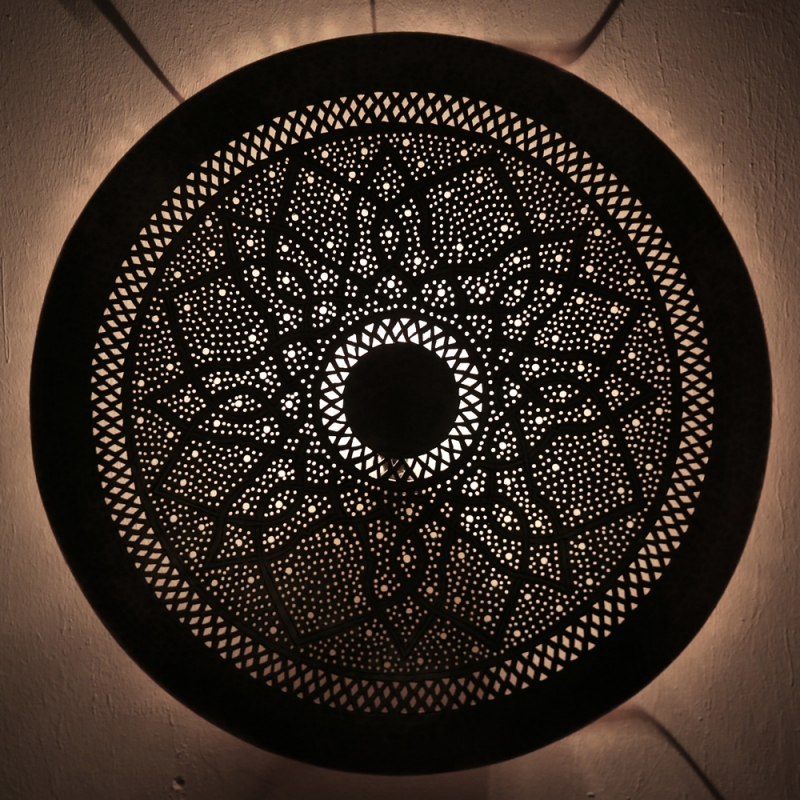 Orientalische  Marokkanische Wandlampe aus Messing DORA ZWAK L  D60cm