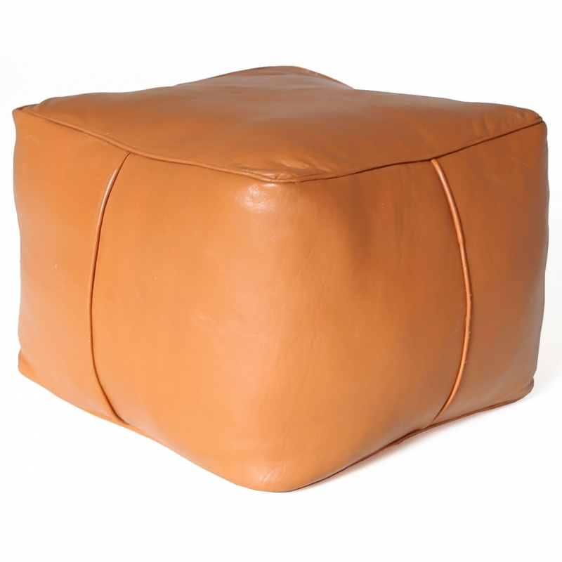 Marokkanische Sitzkissen CARRE Cognac Braun