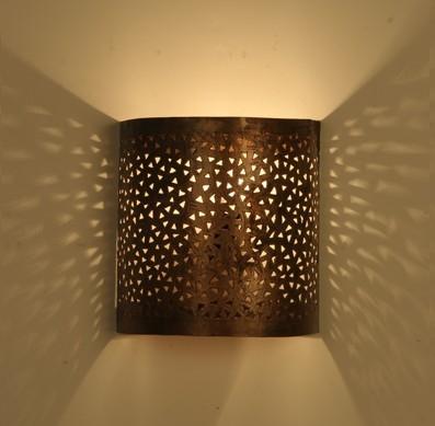 Eisen Wandlampe MEDITERA H20cm