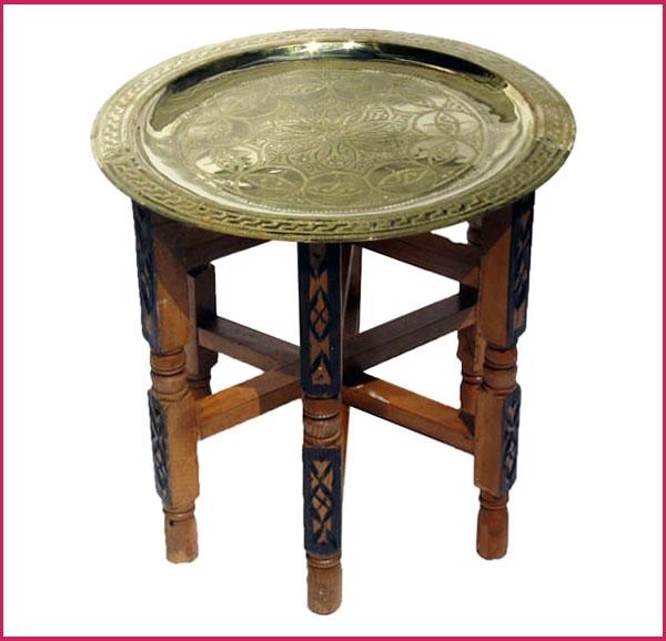 Marokko Beistelltisch aus Messing 40cm