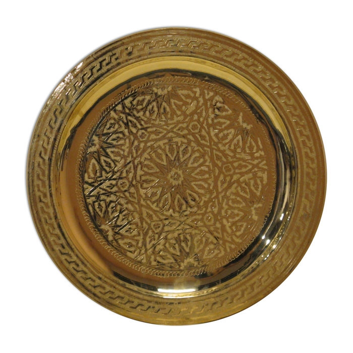 Messing Tablett aus Marokko D40cm
