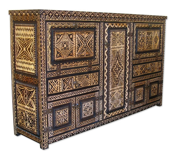 Orientalisches Büffet MERZOUGA aus Zedernholz