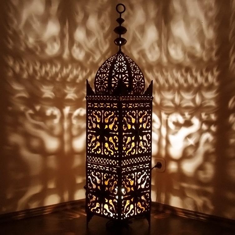 Orientalische Eisenlaterne SAMA H120cm