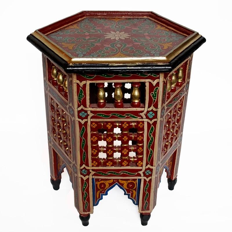Marokkanischer Beistelltisch, Handbemalen in Maurischen- Stil.