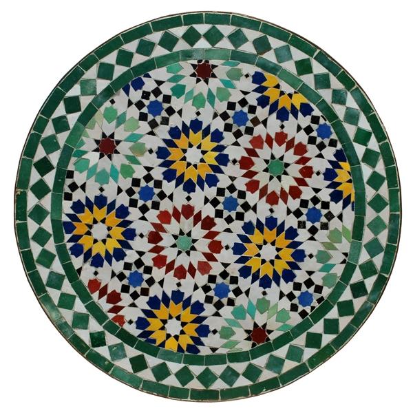 Marokkanischer Mosaiktisch ANKABUT D60cm Grün