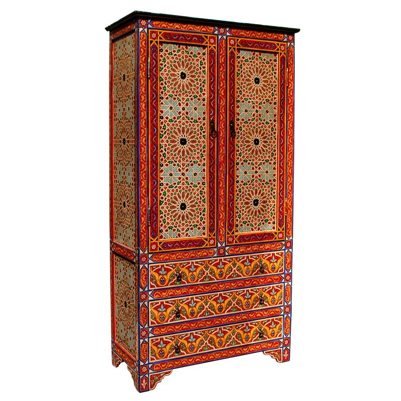 handbemalter orientalischer schrank aus marokko albazar On orientalischer schrank