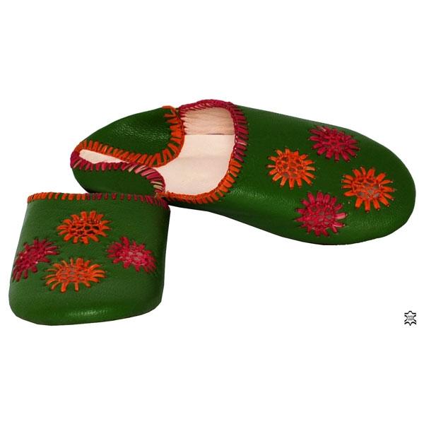 Orient Leder - Pantofelln Grün