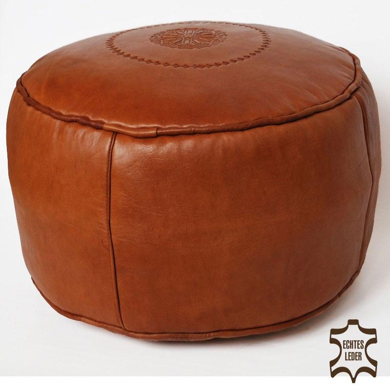 Orientalisches Sitzkissen SALE Cognac D42cm