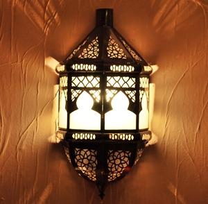 Arabische Wandlampe aus Glas