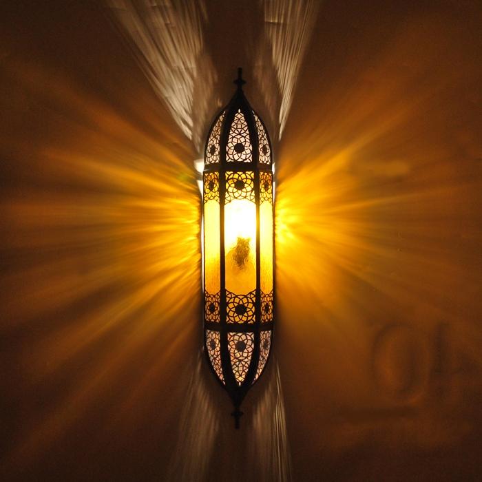Orientalische Wandlampe aus Glas COMERA Amber