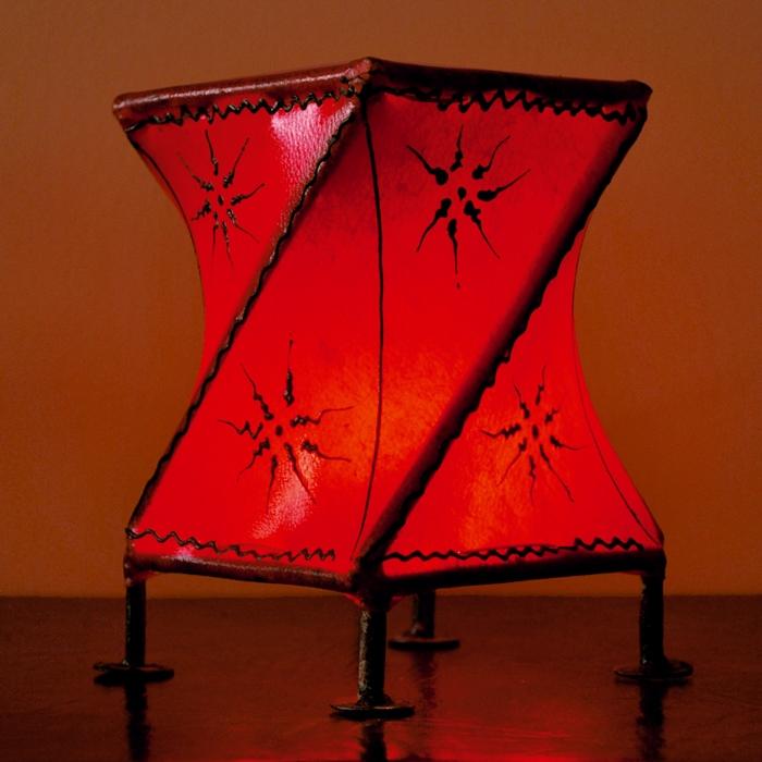 Orientalisches Windlicht  aus Leder