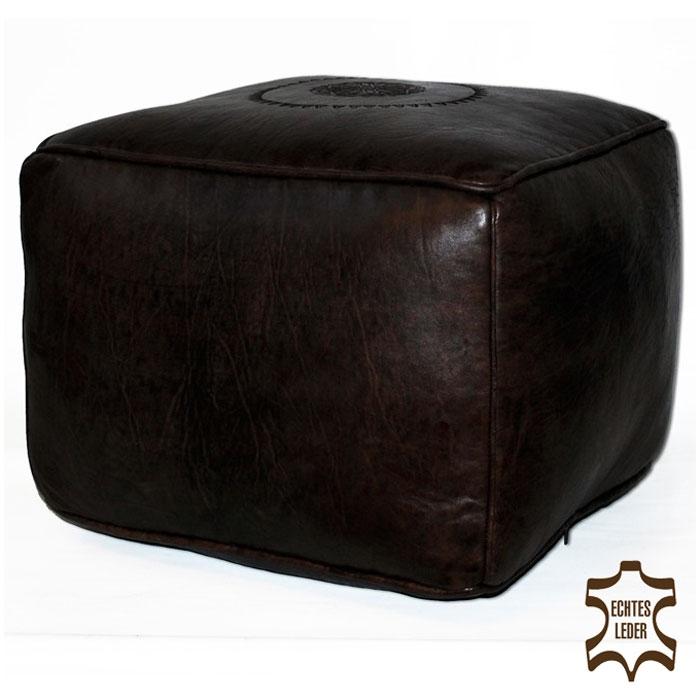 Orientalisches Bodenkissen aus Marokko SALE Care 40x40 cm Braun