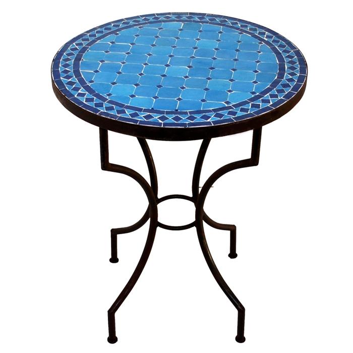 Mosaiktisch Bistrotisch SARGA D60cm Blau