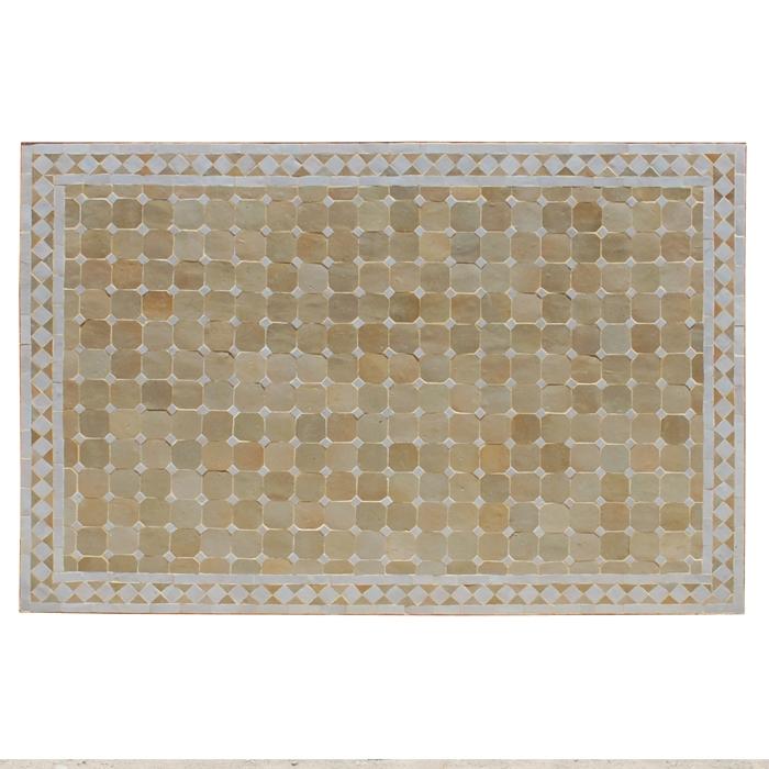 Mosaiktisch aus Marokko-Viereckig-(120x80)cm