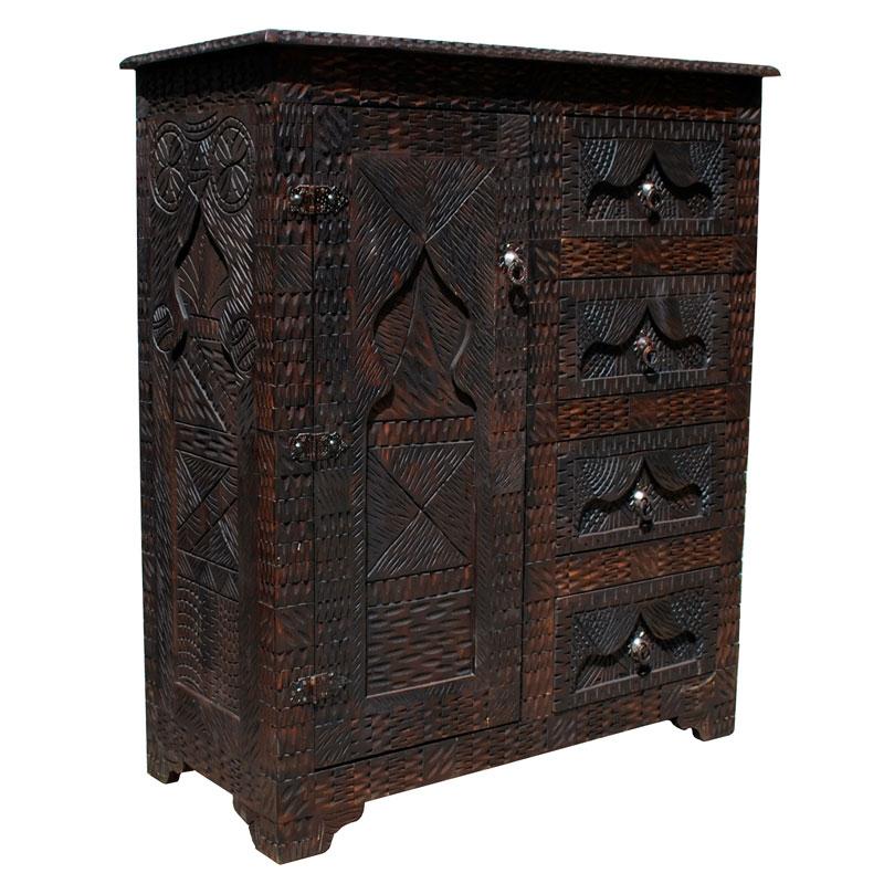 Orientalischer Holzschrank \
