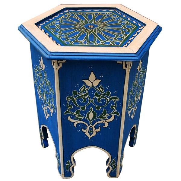 Orientalischer Teetisch aus Holz,