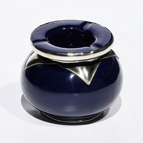 Marokkanischer Keramik Aschenbecher Dunkel Blau