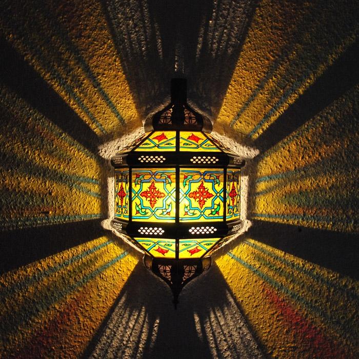Orientalische Wandleuchte aus Glas  Tita_Zwak