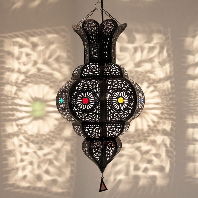 Arabische Hängelampe AMARA Dunkelbraun H 50cm