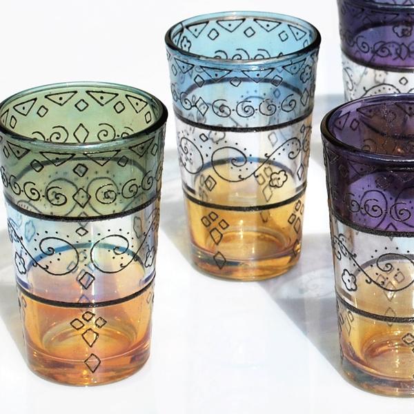 Marokkanische Teegläser