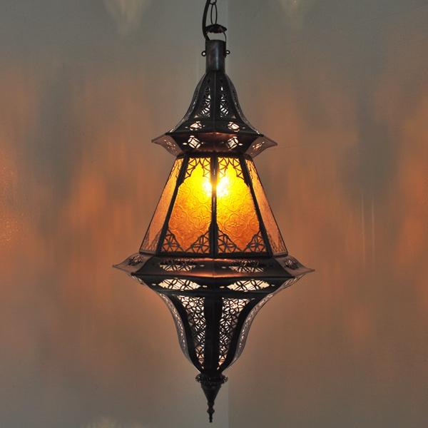 Arabische Deckenlampe CHINOUIA Amber