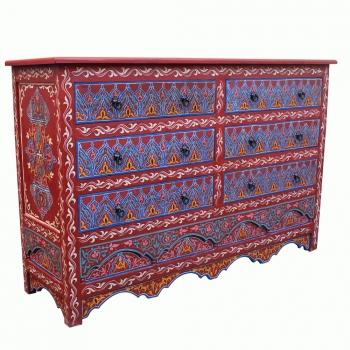 Arabischer Schrank  Hamri handbemalt H106cm