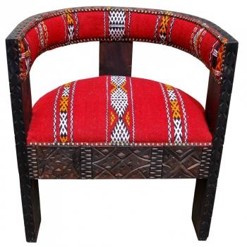 Orientalischer Sessel Kelim mit echtem Kelim