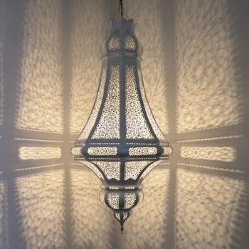 Orientalische Lampen Bida Weiss