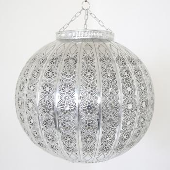 Orientalische Deckenleuchte KORA_KAZDIR_L Silber