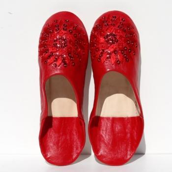 Orientalische Lederschuhe Mosona_ Rot