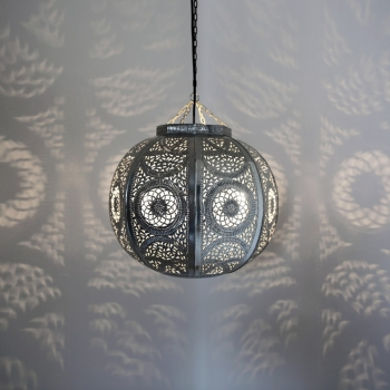 Orientalische Deckenleuchte KITORA Silber