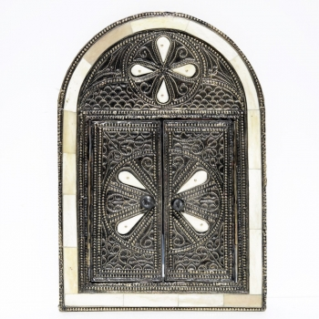 Orientalischer marokkanischer arabischer Spiegel BOUCHARA H 33cm