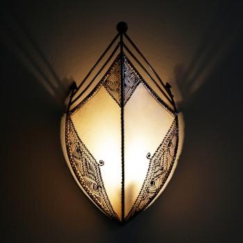 Marokkanischer Lampenschirm AFRAH Natur