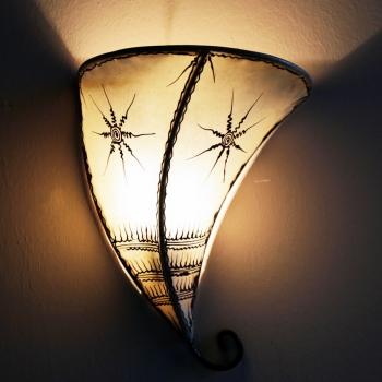 Marokkanischer Lampenschirm Auja Natur
