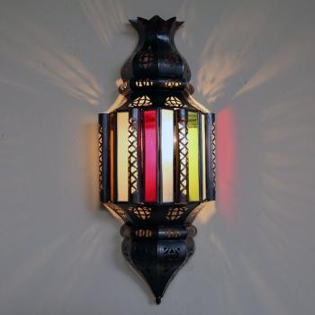 Orientalische Wandlampe aus Glas NIHAL