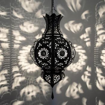 Orientalische Deckenleuchte YAMINA Dunkelbraun