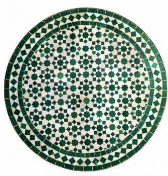 Gartentisch aus Mosaiksteine  -Tarsia- D60cm grün
